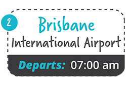 brisbane international to yamba one way fare