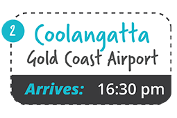 yamba to gold coast airport one way fare