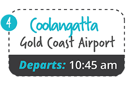 gold coast coolangatta airport to yamba one way fare
