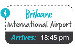 yamba to brisbane international one way fare