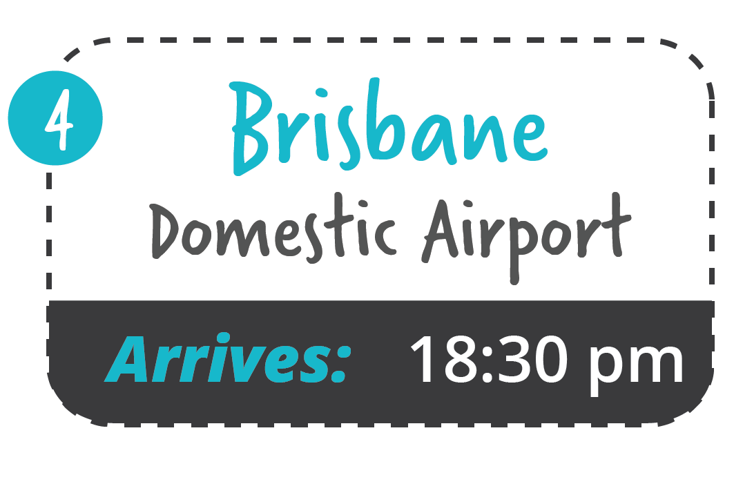 yamba to brisbane domestic